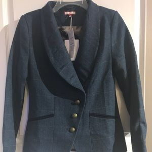 NWT Vintage Plaid Blazer Jacket